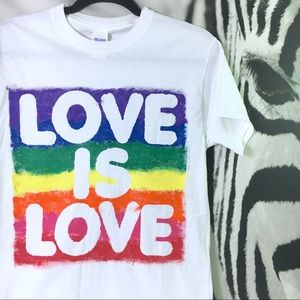 Tops - Pride Rainbow Hand Painted Tee One of a Kind Small